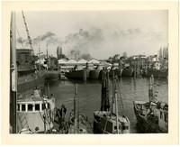 Docked boats- Bellingham Marine Railway & Boatbuilding Company