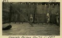 Lower Baker River dam construction 1925-05-21 Concrete Surface Run #110 El.287.3