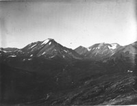 Unidentified mountain peaks