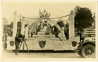Royalty float from Whatcom County Tulip Festival parade, 1923