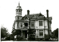 Exterior of Roeder-Roth house, Bellingham, WA, in elaborate Queen Anne style with turret