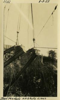 Lower Baker River dam construction 1925-08-03 Steel Pendants on Chute Lines