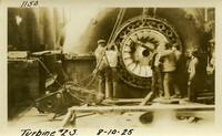 Lower Baker River dam construction 1925-08-10 Turbine #2S
