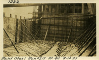Lower Baker River dam construction 1925-09-10 Reinf Steel Run #213 El.411