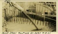 Lower Baker River dam construction 1925-09-04 Reinf Steel Run #209 El.384.5