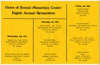 Union of Sexual Minorities Center Eighth Annual Symposium