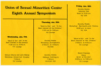 Union of Sexual Minorities Center Eighth Annual Symposium