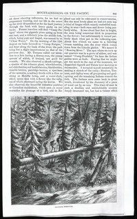 Mountaineering on the Pacific (copy of page 7 of article from Harper's New Monthly Magazine)