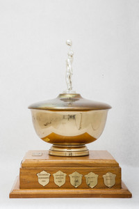 Basketball (Women's) Trophy: Thunderette Invitational Basketball Tournament for annual competition champions, Lower Mainland Amatuer Basketball, 1960/1979