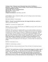 Richard Scholtz oral history