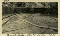 Lower Baker River dam construction 1925-07-06 Concrete Surface Run #153 El.3550