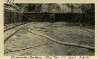 Lower Baker River dam construction 1925-07-06 Concrete Surface Run #153 El.3550