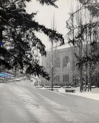 1950 Library: North Side in Snow