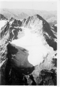 Aerial view of glacier