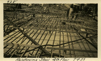 Lower Baker River dam construction 1925-07-09 Reinforcing Steel 4th Floor