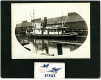 "Cannery tender ""Callendar"" docked next to cannery"