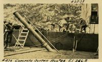 Lower Baker River dam construction 1925-04-25 Concrete Surface Run #84 El.246.8