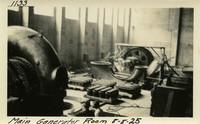Lower Baker River dam construction 1925-08-08 Main Generator Room