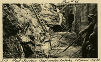 Lower Baker River dam construction 1925-05-06 Rock Surface Seal under Intake 1st Pour