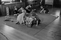 1942 First Grade Students Play With Blocks and Trains (Class 1-C)