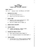 WWU Board minutes 1999 August