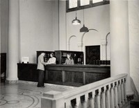 1948 Library: Loan Desk with Reserve Books