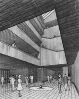 1965 Bond Hall: Architect's Drawing