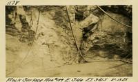 Lower Baker River dam construction 1925-08-15 Rock Surface Run #189 E. Side El.341.5