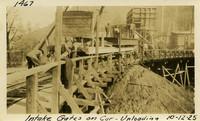 Lower Baker River dam construction 1925-10-12 Intake Gates on Car--Unloading
