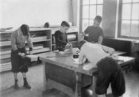 1943 Students In Work Room