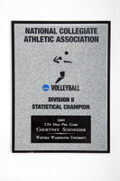 Volleyball (Women's) Plaque: NCAA Statistical Champion , 2007