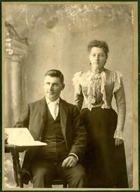 Man and woman in studio portrait