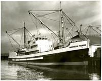 """Cargo vessel """"Western Pioneer"""" moored at dock"""