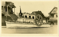 Rotary International float from Whatcom County Tulip Festival parade, 1923