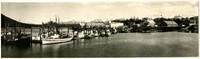 Cannery tenders moored at docks of Petersburg, Alaska