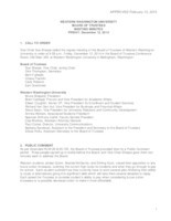 WWU Board of Trustees Minutes: 2014-12-12