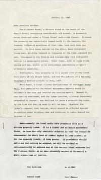 Letter to Governor Gardner