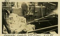 Lower Baker River dam construction 1925-06-16 Generator Conduits 2nd Floor