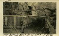 Lower Baker River dam construction 1925-07-24 Rock Surface Run #171 El.3485