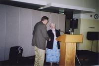 2007 Reunion--Curt Smith With WWU President Karen Morse at Reception