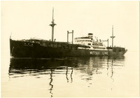 Japanese Mitsui Line lumber ship