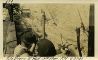 Lower Baker River dam construction 1925-06-27 Tile Drain E. Wall 3rd Floor P.H.
