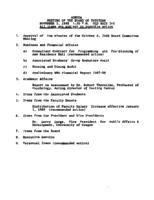 WWU Board minutes 1988 November