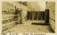 Lower Baker River dam construction 1925-02-15 Forms for Sluiceways