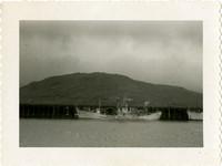 Japanese research vessel at dock, Adak, Alaska