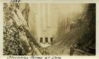 Lower Baker River dam construction 1925-09-27 Stripping Forms at Dam