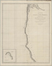 A Chart Showing Part of The Coast of N.W. America, With the Tracks of His Majesty's Sloop Discovery and Armed Tender Chatham.