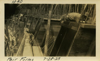Lower Baker River dam construction 1925-07-28 Pier Forms