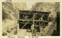 Lower Baker River dam construction 1925-07-31 Power House