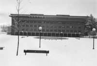 1971 Bond Hall in Snow
